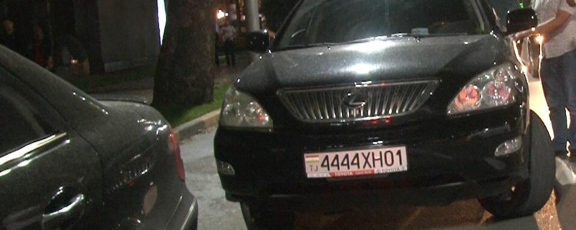 Один из задержанных автомобилей из-за беспорядков в Душанбе - Sputnik Тоҷикистон, 1920, 12.05.2021
