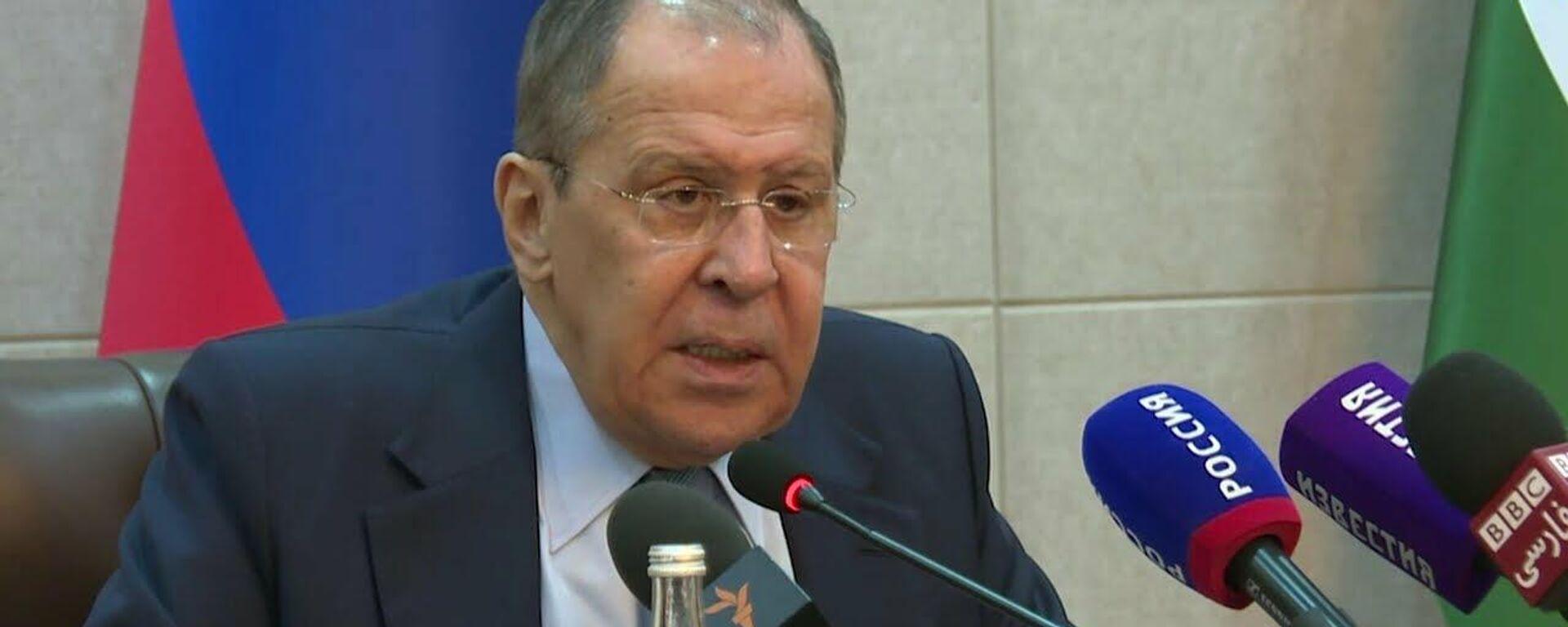 Совместная пресс-конференция С.Лаврова и С.Мухриддина, Душанбе, 19 мая 2021 года - Sputnik Таджикистан, 1920, 19.05.2021