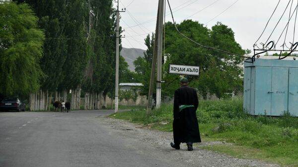 Кишлак Ходжаи Аъло на границе Таджикистана и Кыргызстана - Sputnik Тоҷикистон