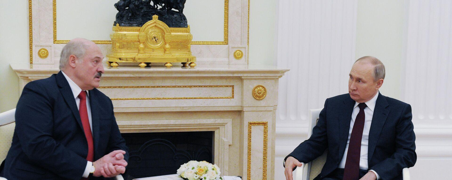 Президент РФ В. Путин встретился с президентом Белоруссии А. Лукашенко - Sputnik Таджикистан, 1920, 28.05.2021
