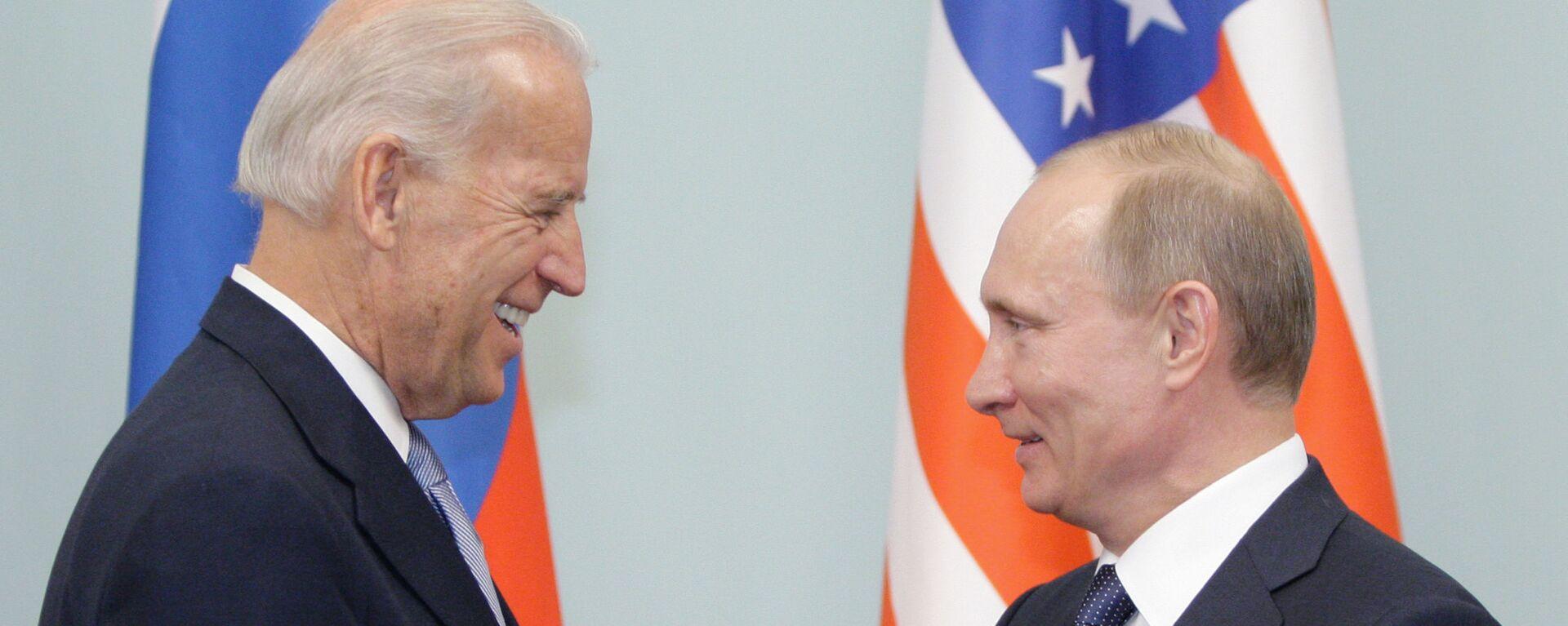 Встреча Владимира Путина с Джозефом Байденом в Москве - Sputnik Таджикистан, 1920, 02.06.2021