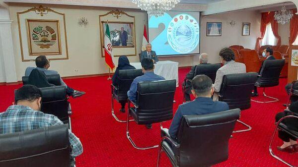 Пресс-конференция посла Таджикистана Низомиддина Зохиди в посольстве Республики Таджикистан в Тегеране - Sputnik Тоҷикистон