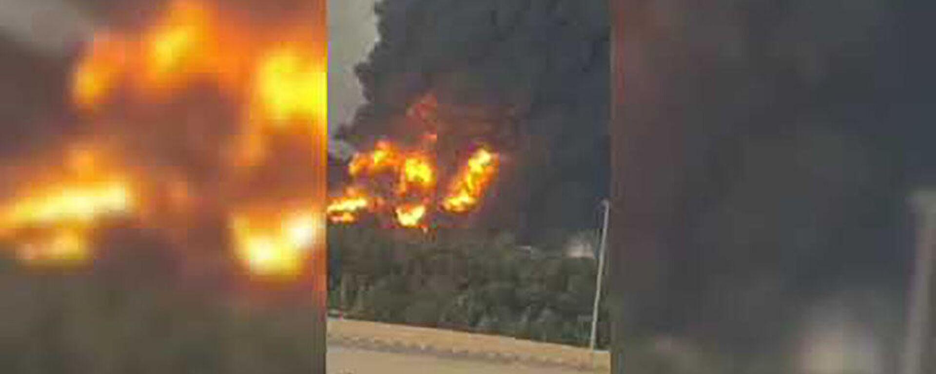 Пожар в Тегеране на нефтеперерабатывающем заводе  - Sputnik Таджикистан, 1920, 03.06.2021