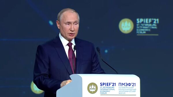 Выступление Владимира Путина на пленарном заседании ПМЭФ-2021 - Sputnik Таджикистан
