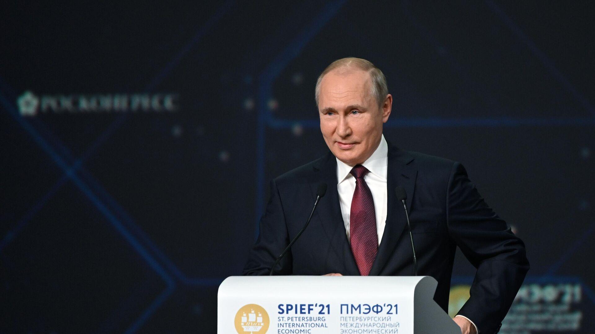 Президент РФ В. Путин  - Sputnik Таджикистан, 1920, 05.06.2021
