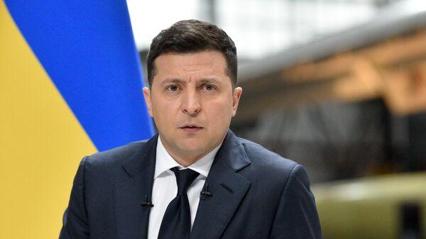 Пресс-конференция президента Украины В. Зеленского - Sputnik Тоҷикистон