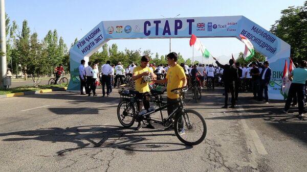 Летний веломарафон в Душанбе  - Sputnik Тоҷикистон