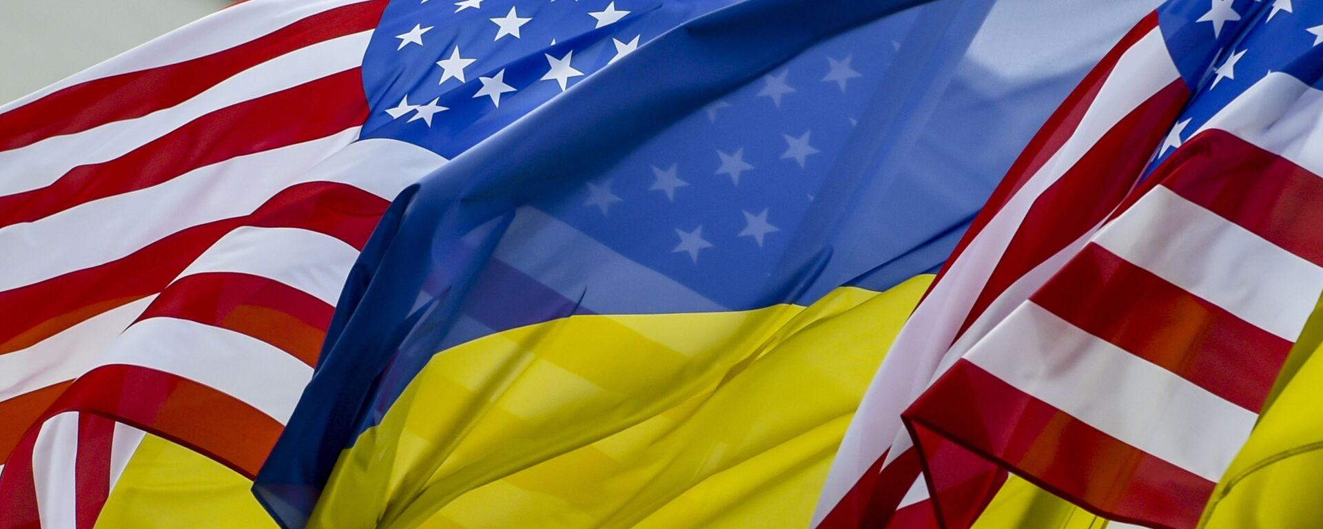 Флаги США и Украины - Sputnik Таджикистан, 1920, 16.06.2021