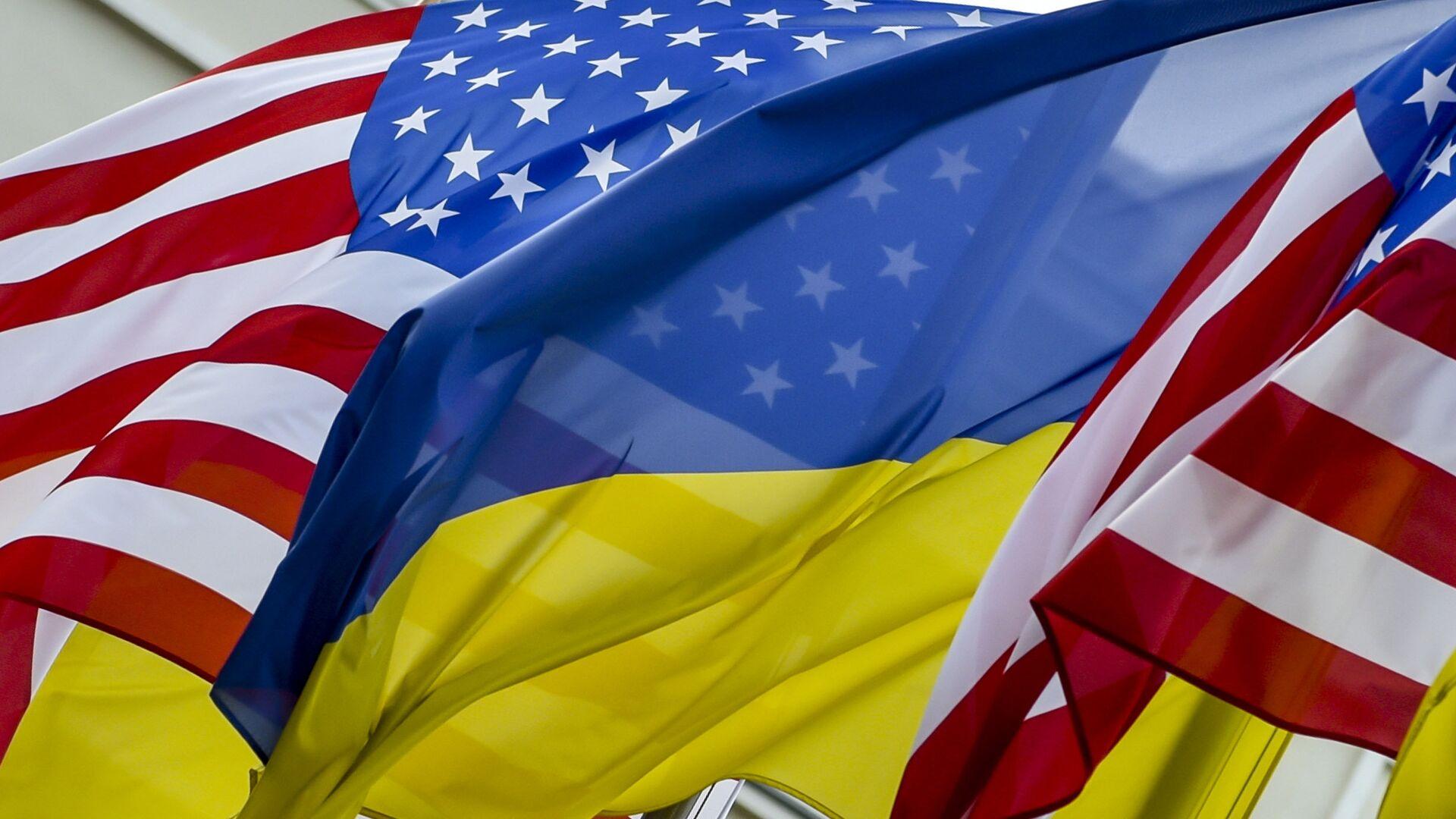 Флаги США и Украины - Sputnik Таджикистан, 1920, 29.06.2021