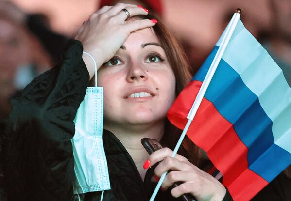 Первый пропущенный гол вызвал недоумение и разочарование у болельщиков сборной России. - Sputnik Таджикистан