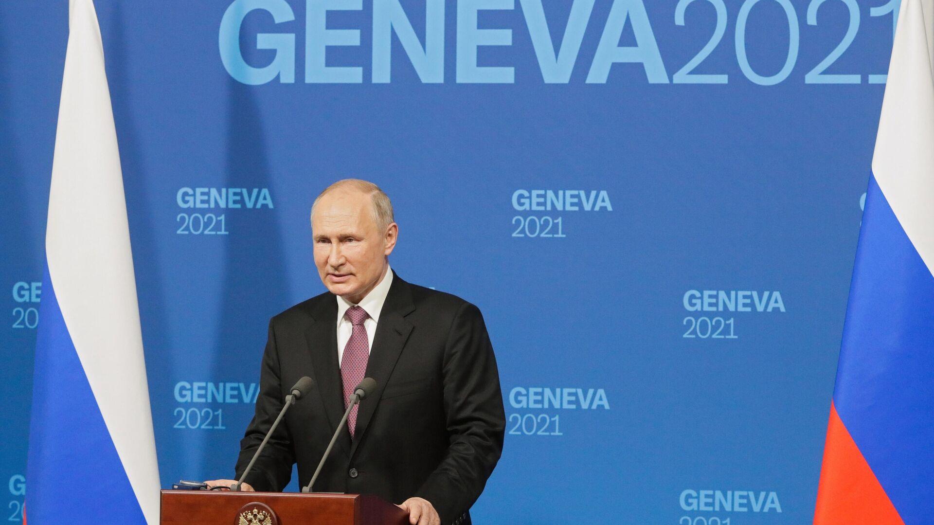 Встреча президентов России и США В. Путина и Дж. Байдена в Женеве - Sputnik Таджикистан, 1920, 16.06.2021