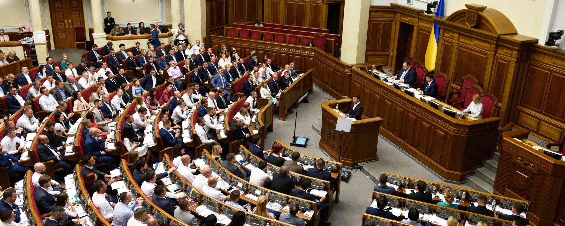 Первое заседание Верховной рады Украины нового созыва - Sputnik Таджикистан, 1920, 24.06.2021