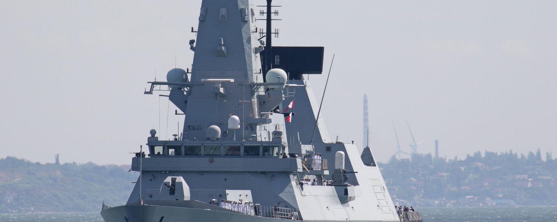 Эсминец Defender ВМС Великобритании  - Sputnik Таджикистан, 1920, 25.06.2021