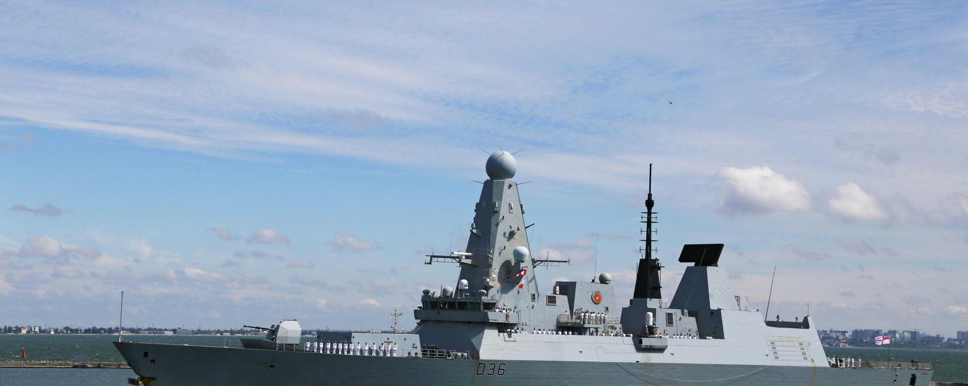 Эсминец Defender ВМС Великобритании  - Sputnik Таджикистан, 1920, 27.06.2021