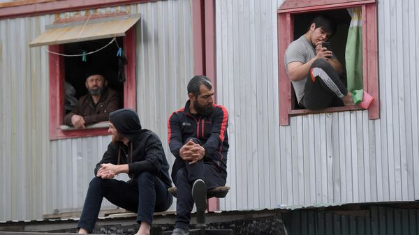Рабочие на стройке - Sputnik Таджикистан