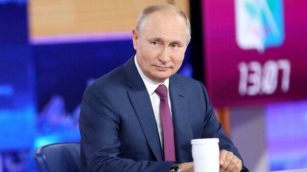 Прямая линия с Владимиром Путиным 30 июня 2021 года  - Sputnik Тоҷикистон