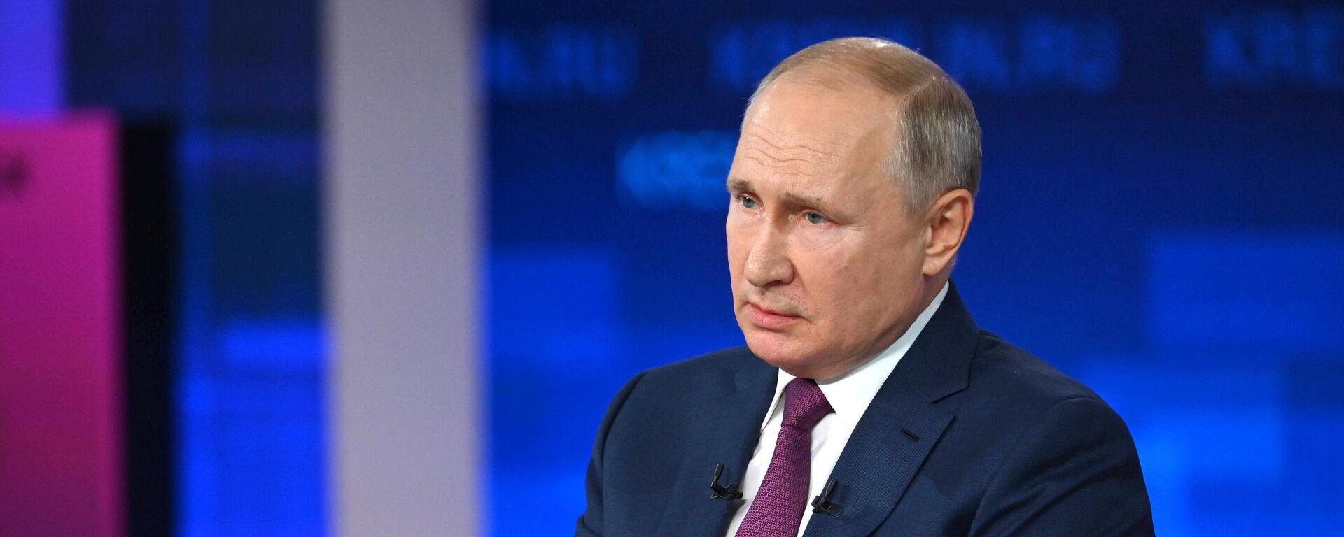 Президент РФ Владимир Путин  - Sputnik Тоҷикистон, 1920, 20.08.2021