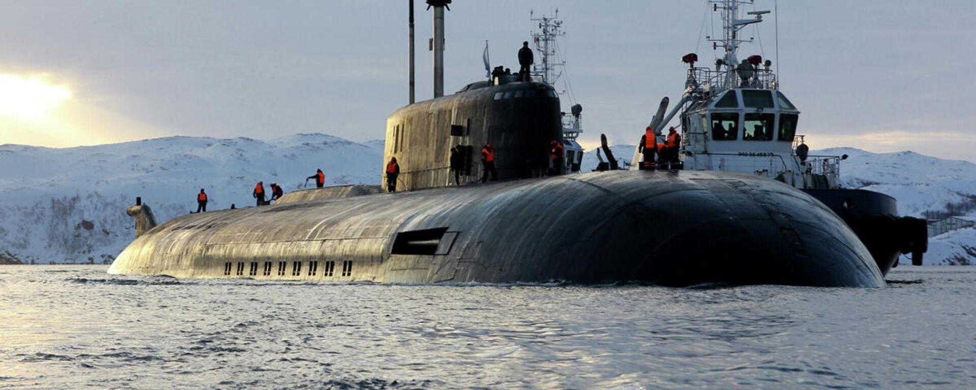 Прибытие атомного подводного ракетного крейсера Северного флота Орёл  - Sputnik Таджикистан, 1920, 07.07.2021
