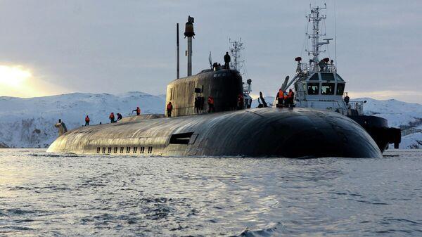 Прибытие атомного подводного ракетного крейсера Северного флота Орёл  - Sputnik Таджикистан