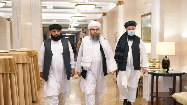 Делегация политического офиса движения Талибан (запрещено в РФ) в Москве - Sputnik Тоҷикистон