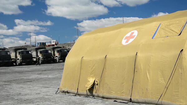 Военнослужащие ЦВО развернули полевой мобильный госпиталь - Sputnik Тоҷикистон