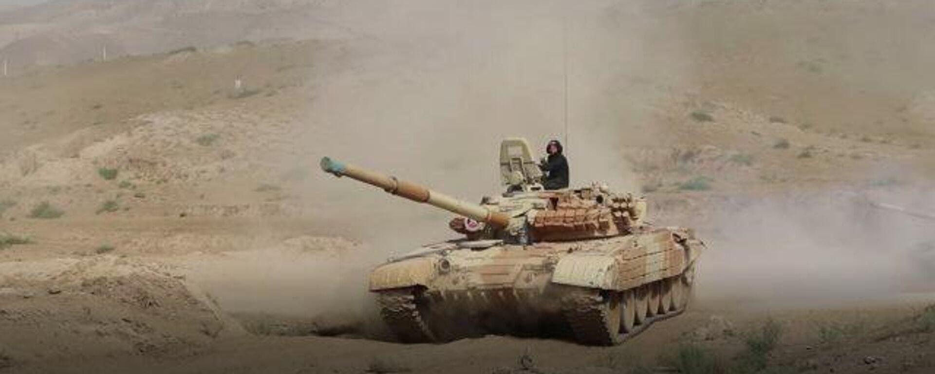 Российские танкисты в Таджикистане совершили марш у границ Афганистана - Sputnik Таджикистан, 1920, 21.07.2021