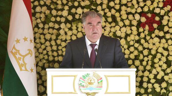 Выступление Рахмона в Согдийской области - Sputnik Таджикистан