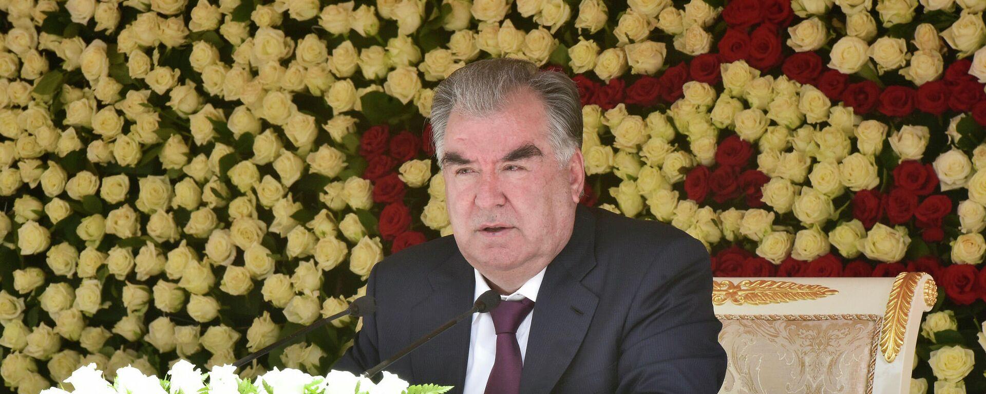 Президент Таджикистана Эмомали Рахмон - Sputnik Тоҷикистон, 1920, 20.08.2021