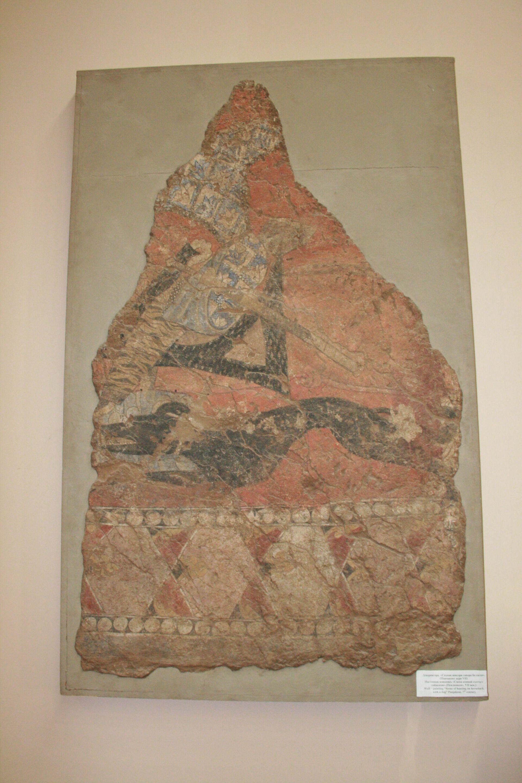 Пенджикентская роспись VII века с изображением собаки - Sputnik Таджикистан, 1920, 09.08.2021