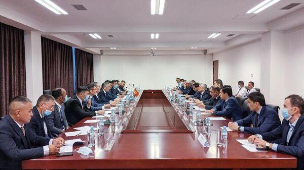 Встреча топографических рабочих групп правительственных делегаций Республики Таджикистан и Кыргызской Республики - Sputnik Тоҷикистон