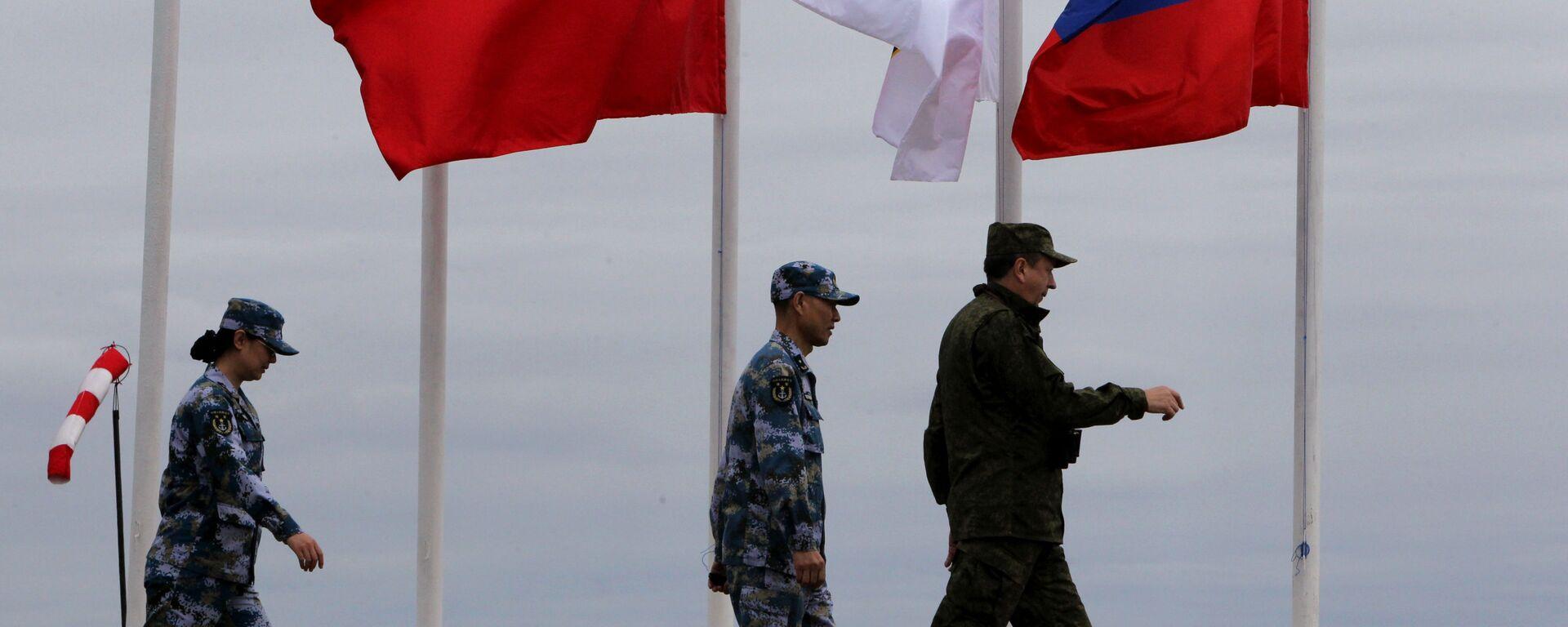 Российско-китайские военно-морския учения  - Sputnik Таджикистан, 1920, 11.08.2021