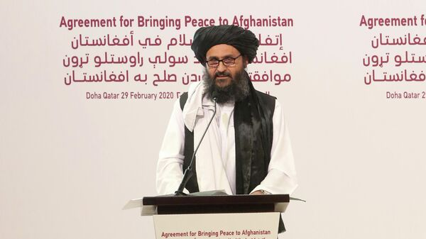 Мулла Абдул Гани Барадар, главный политический лидер группы Талибан - Sputnik Тоҷикистон