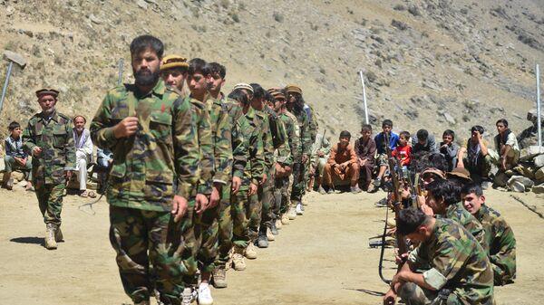 Афганское движение сопротивления во время учений в провинции Панджшер, Афганистан - Sputnik Тоҷикистон