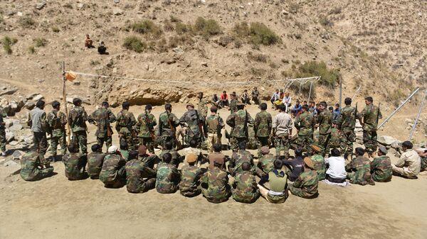 Афганское движение сопротивления во время учений в провинции Панджшер, Афганистан - Sputnik Таджикистан