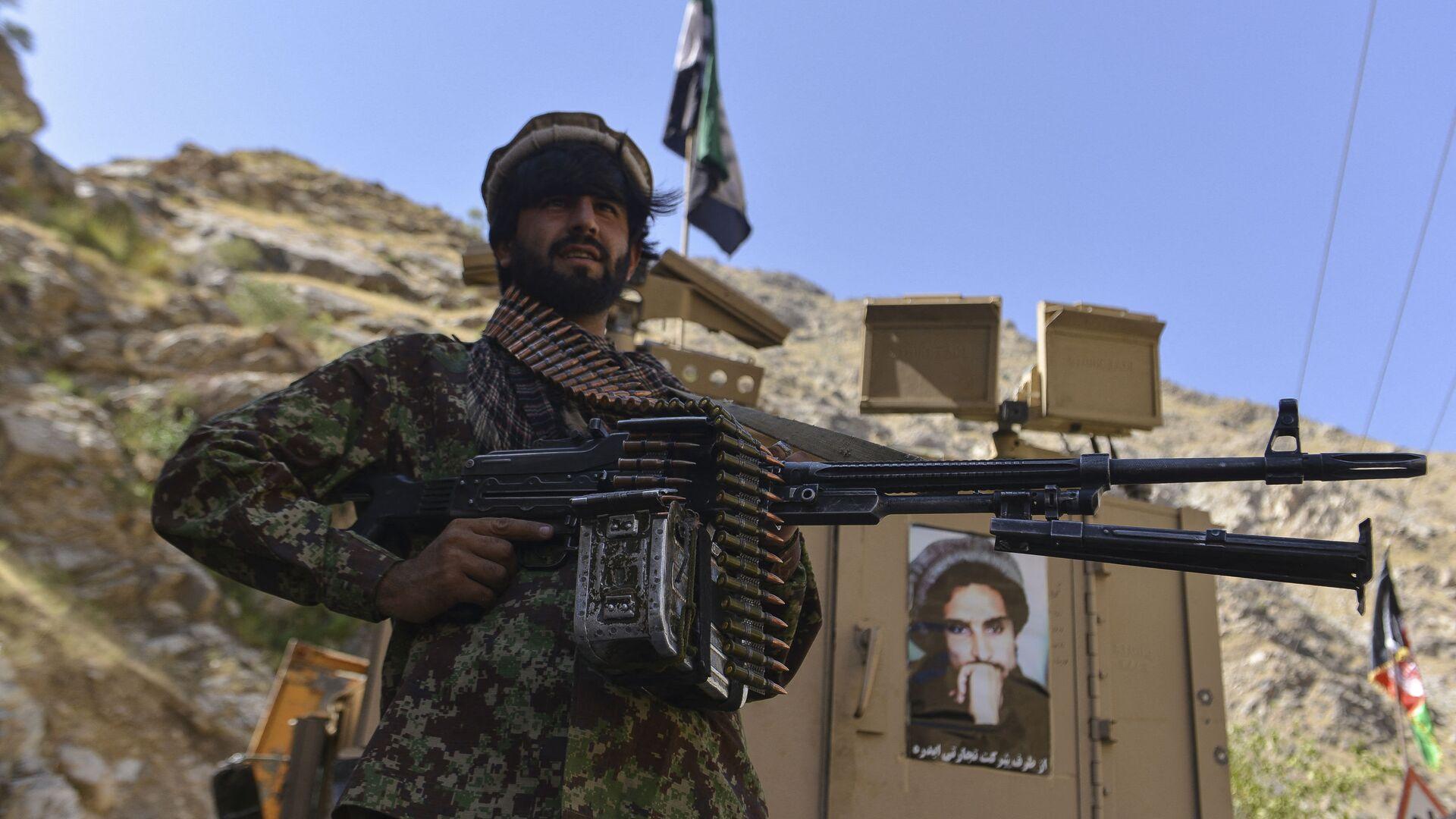 Афганское движение сопротивления во патрулирования в провинции Панджшер, Афганистан - Sputnik Таджикистан, 1920, 02.09.2021