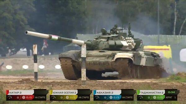 Таджикистан на Танковом биатлоне - 2021. Второй  заезд - Sputnik Таджикистан