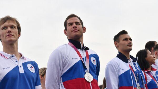 Российские спортсмены, члены сборной России, архивное фото - Sputnik Таджикистан
