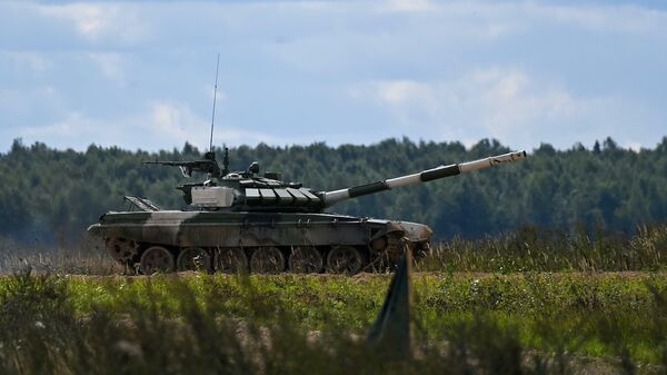 Танковый биатлон : 2 дивизион 6 заезд. Таджикистан - Sputnik Таджикистан