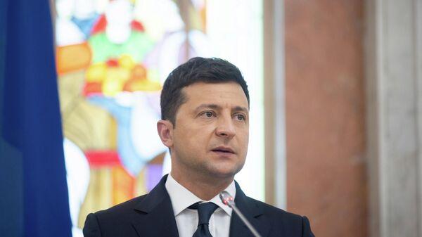 Президент Украины Владимир Зеленский  - Sputnik Тоҷикистон