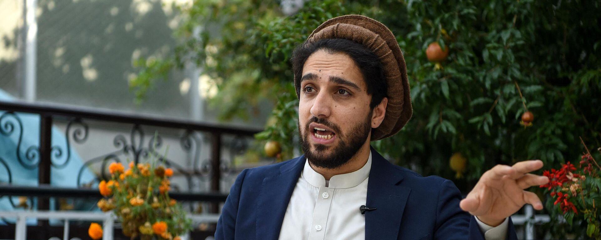 Ахмад Масуд, сын покойного афганского политика и военачальника Ахмад Шаха Масуда - Sputnik Таджикистан, 1920, 04.09.2021