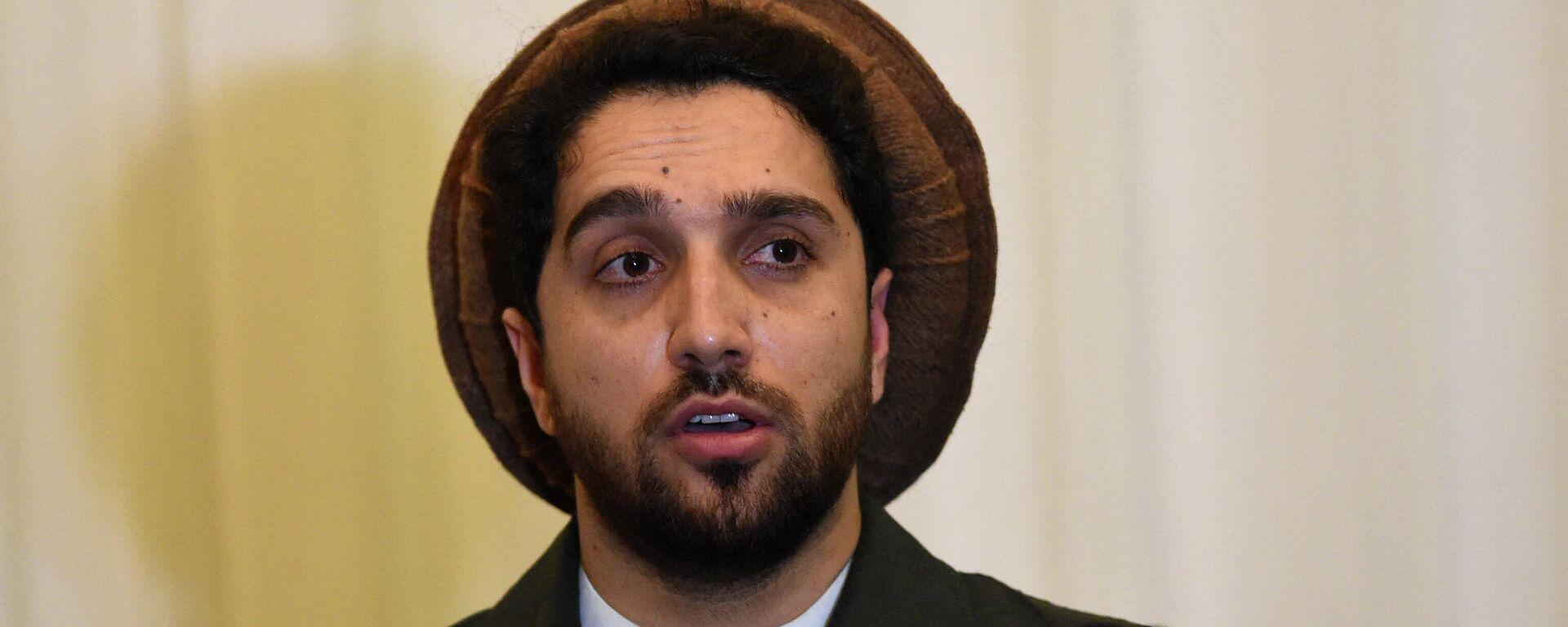 Ахмад Масуд, сын покойного афганского политика и военачальника Ахмад Шаха Масуда - Sputnik Таджикистан, 1920, 02.09.2021