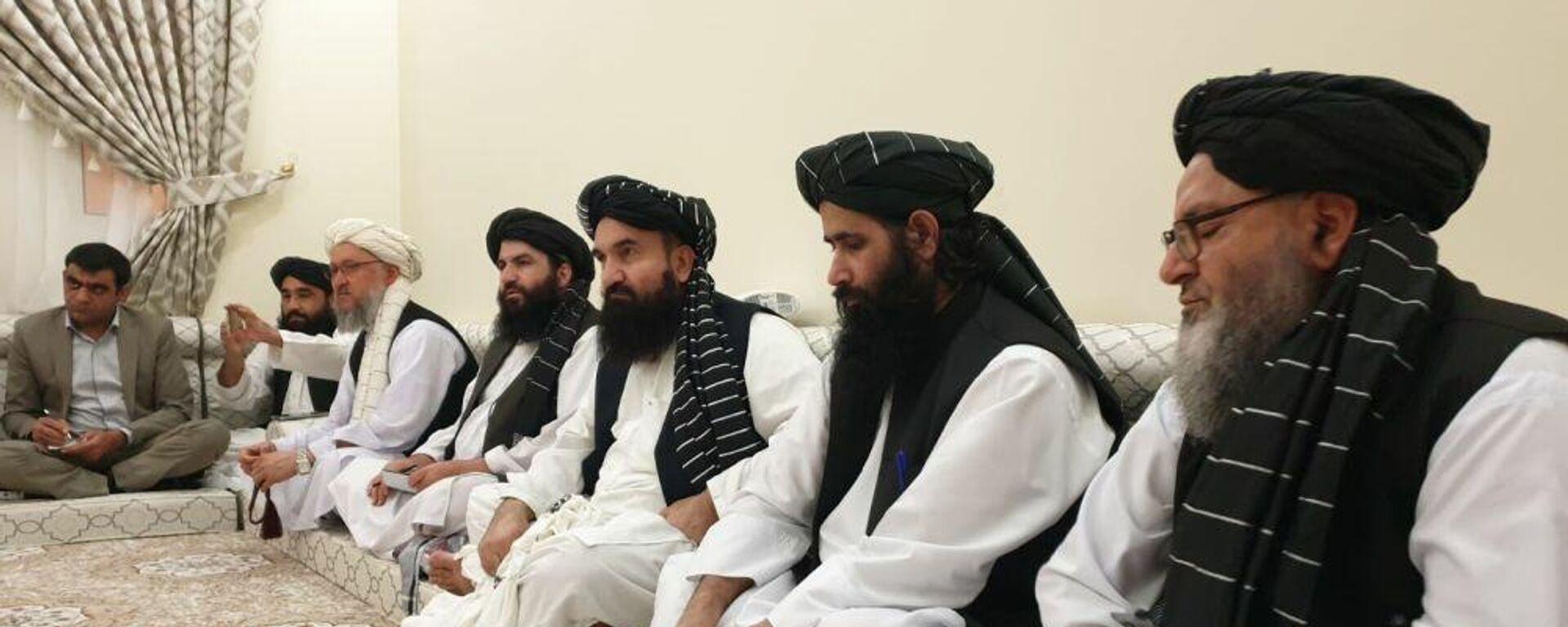Руководство Талибана во время совещания - Sputnik Таджикистан, 1920, 08.09.2021