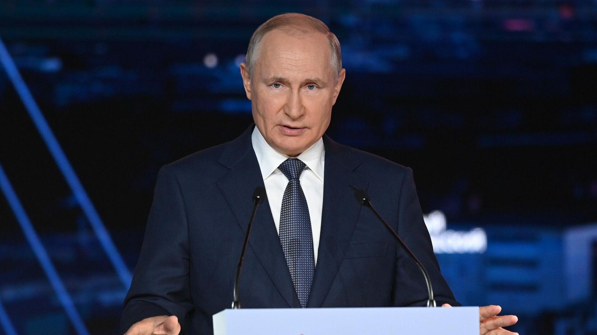 Президент РФ В. Путин принял участие в работе Восточного экономического форума - Sputnik Таджикистан, 1920, 03.09.2021