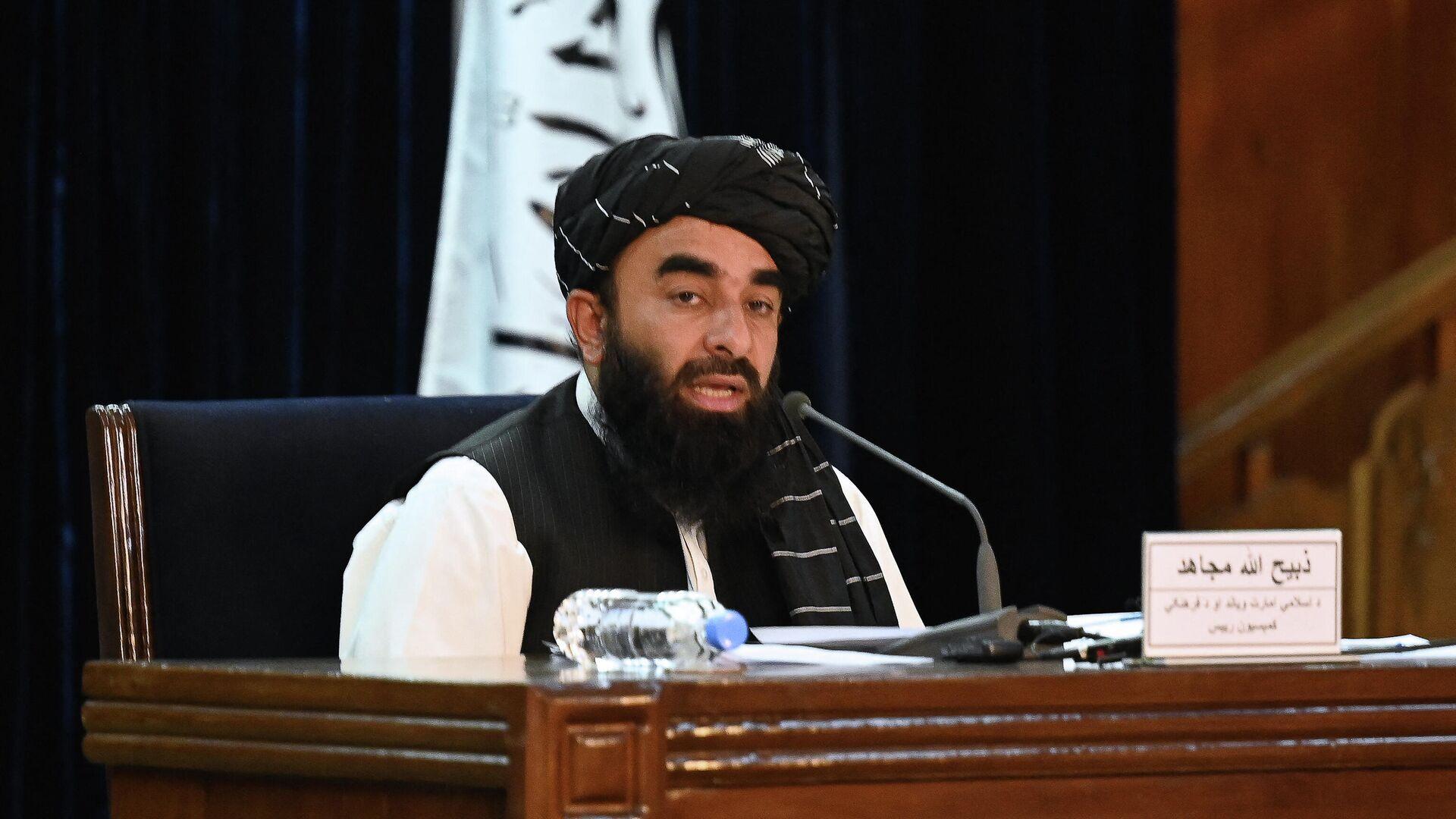Официальный представитель движения Талибан Забихулла Муджахид - Sputnik Таджикистан, 1920, 12.10.2021