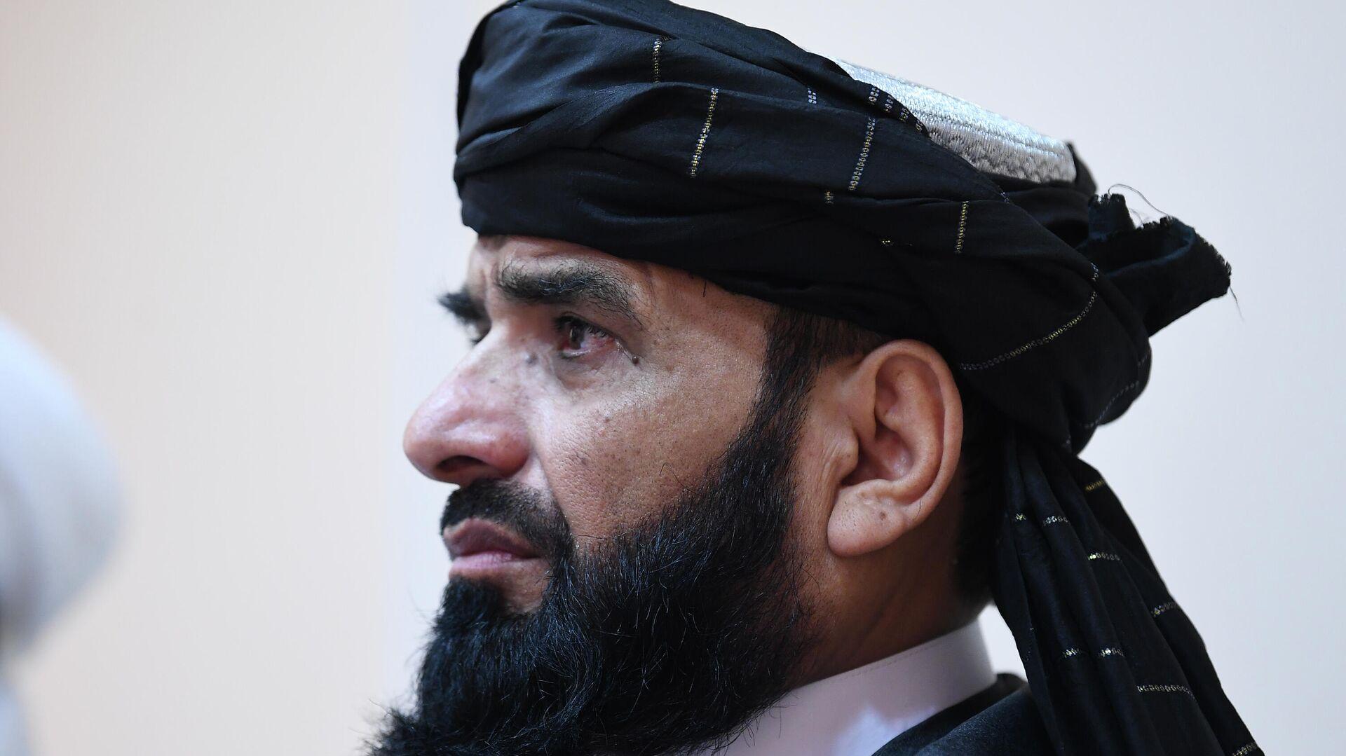 П/к делегации политического офиса движения Талибан (запрещено в РФ) в Москве - Sputnik Таджикистан, 1920, 22.09.2021