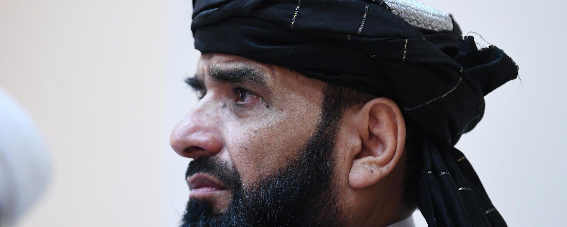 П/к делегации политического офиса движения Талибан (запрещено в РФ) в Москве - Sputnik Таджикистан, 1920, 12.09.2021