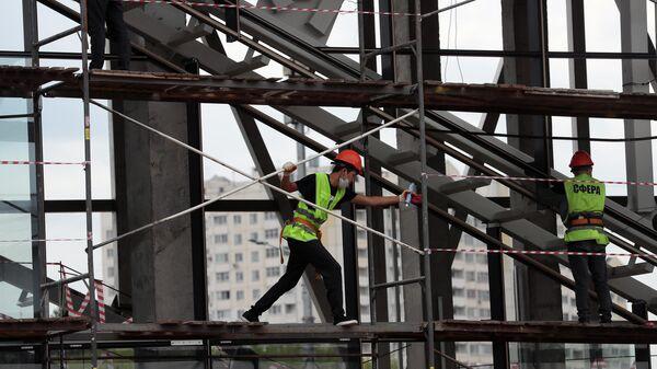 Строительство транспортно-пересадочного узла - Sputnik Таджикистан