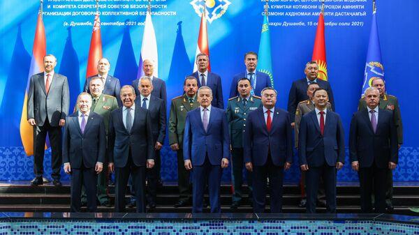 Совместное заседание министров иностранных дел, министров обороны и секретарей совбезов ОДКБ в Душанбе - Sputnik Тоҷикистон