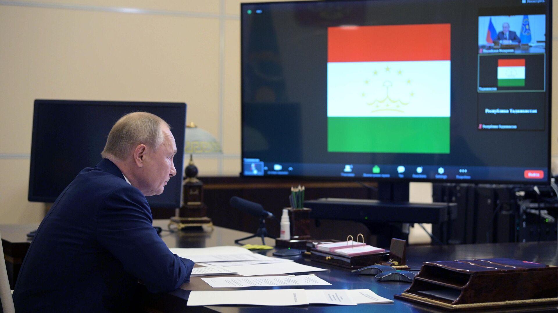 Президент РФ Владимир Путин на заседании лидеров ОДКБ - Sputnik Таджикистан, 1920, 16.09.2021
