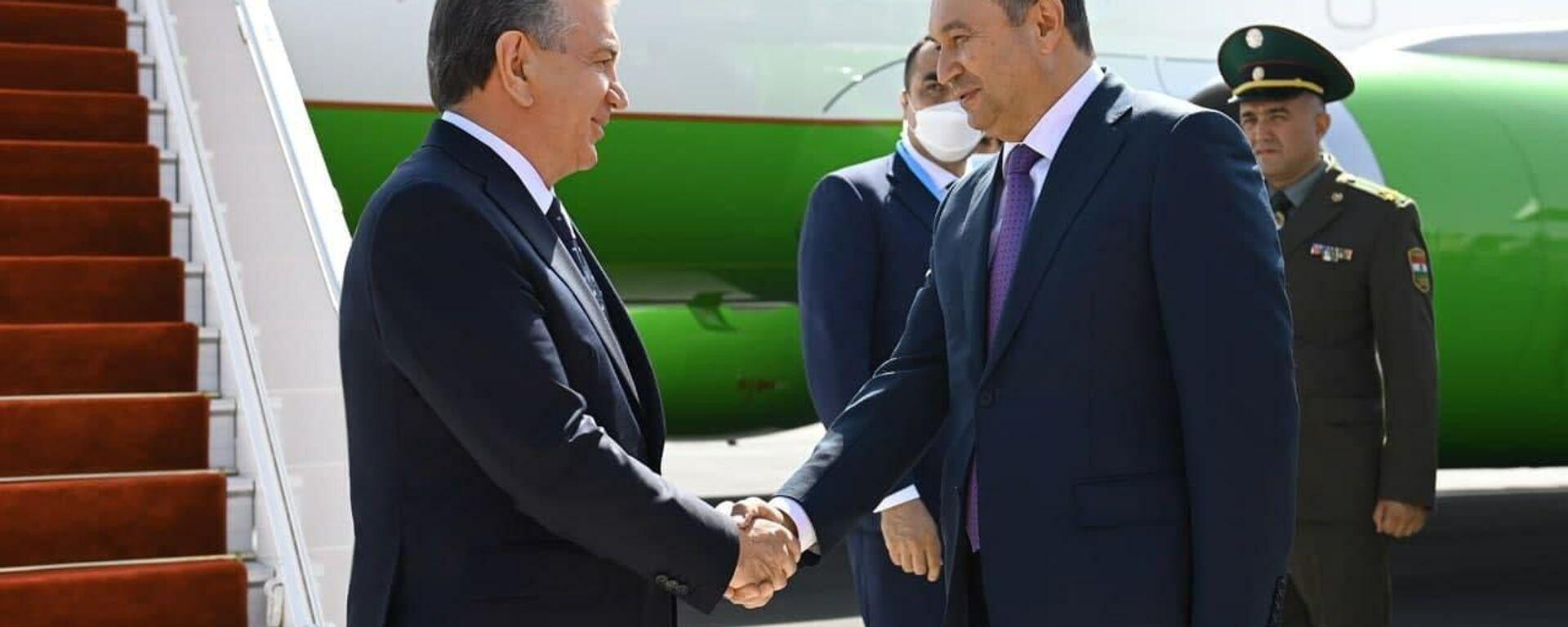 Президент Шавкат Мирзиёев прибыл в город Душанбе для участия в саммите Шанхайской организации сотрудничества - Sputnik Таджикистан, 1920, 16.09.2021